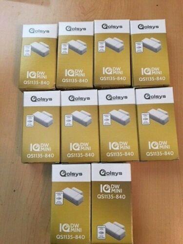 10 QOLSYS IQ SECURITY QS1135-840 QS1135 WHITE MINI WIRELESS DOOR/WINDOW CONTACT