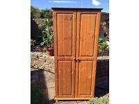 Solid pine wood wardrobe, like new, £55