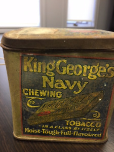 Chewing tobacco tins