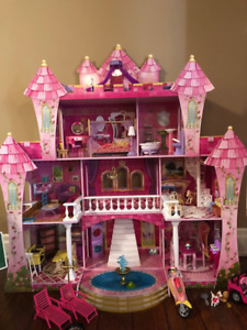 HUGE, LIFE-SIZE Barbie Doll House and Accessories!!!