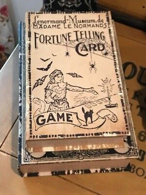 Faux Halloween Vintage Style Fortune Telling Book Stash Box - Vintage Halloween Book Boxes