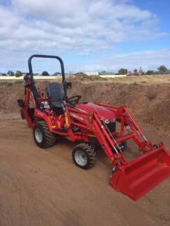 NEW MASSEY FERGUSON TRACTOR WITH BACKHOE & 4 in 1 Bucket.  1 ONLY Aldinga Beach Morphett Vale Area Preview