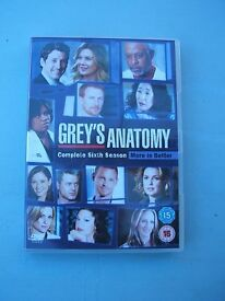 DVD (6 Disc) Box Sets Grey's Anatomy Sixth Eighth & Ninth season 6 8 9 (Doctor Hospital etc)