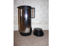 'Reduced' 1 Ltr Thermos Black / Stainless Steel Flask, Unused