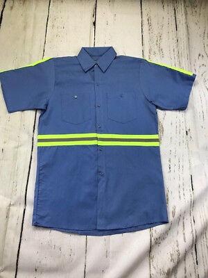 100% Cotton Uniform ( Hi Vis Reflective Shirts Safety Towing  Work Uniform 100% Cotton Light Blue )