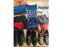 Bundle of clothes and shoes for a 7 years old boy