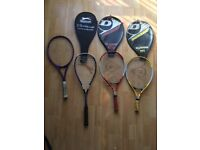 A set of Tennis and squash rackets