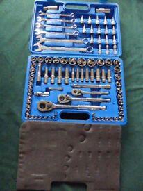 Silverline 90 Piece Tool Set Spanners Sockets Screwdriver TRX Metric Imperial
