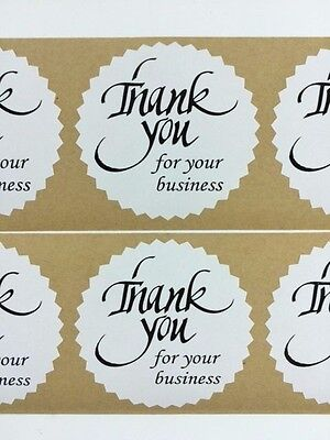 100 Thank You For Your Business 2 Starburst Black 100 New Stickers Thank You