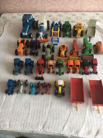 Quantity of Diecast Toy Tractors and Trailers Various Sizes