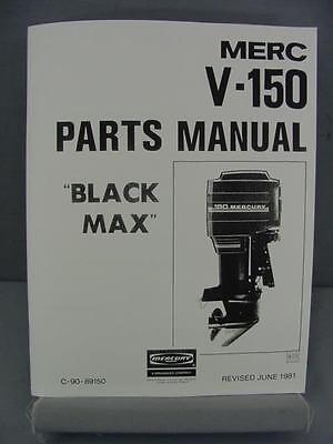 Mercury V-150 Black Max Outboard Motor Parts Manual – 150 HP – 1981 - 5432022