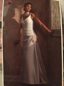 Classic satin wedding gown size 12