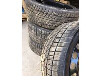 Audi A3/Golf Winter Grip Tyres complete with steel wheels