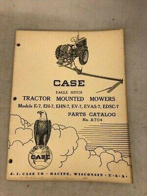 Case Eagle Hitch Tractor Mounted Mowers E-7 Eh-7 Ehn-7 Ev-7 Evas-7 Edsc-7