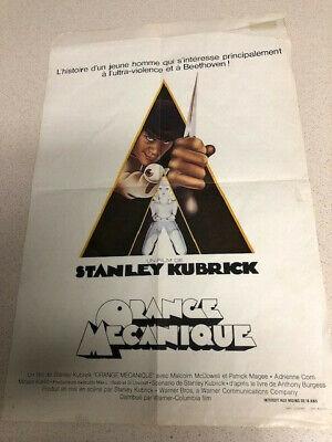 Vintage 1971 A Clockwork Orange poster 14-in x 21-in Bruxelles Folded