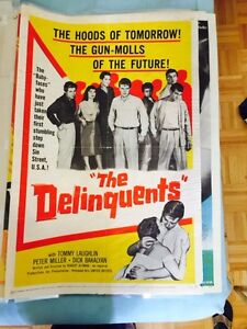 ) Vintage 1950's Theater Poster Robert Altman - The Delinquents