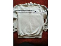 adidas cream jumper. £10