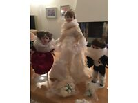 Bridal Party Porcelain Dolls : Brand new in original box with Bride, Bridesmaid and Pageboy