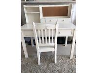 Feather & Black Children's Desk, Chair & Desk Storage