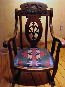 Antique Wooden Rocking Chair London Ontario image 7