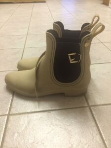 Only $10! Cute Rainboot / Black Ankle Boot