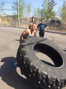 Recherche gros pneu de tracteur pour entrainement