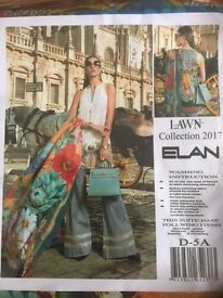 Brand new, fully-packed Elan Floral Embroidery Lawn Suit