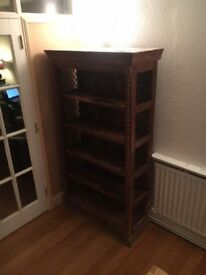 Beautiful Solid Wood & Decorative Moorish Bookcase.
