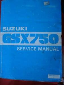 SUZUKI GSX750 SD KATANA MOTORCYCLE WORKSHOP SERVICE MANUAL c1983 Dianella Stirling Area Preview