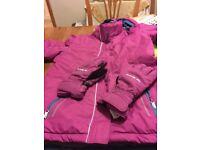 childs ski jacket & matching gloves