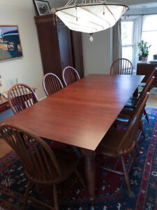 Fine Solid maple dining room set