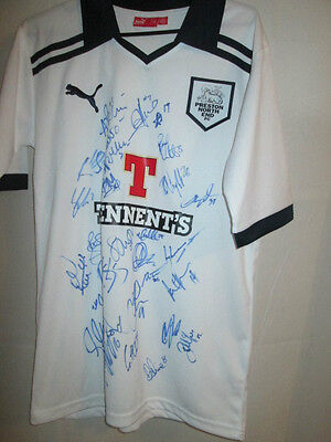 Preston North End PNE 2011-2012 Squad Signed Home Football Shirt with COA /30034 image