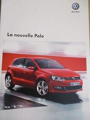 CATALOGUE AUTO : VW VOLKSWAGEN : LA NOUVELLE POLO 05/2009