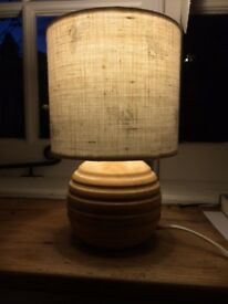 Laura Ashley Wooden lamp base with handmade linen Shade with tiny BEE design