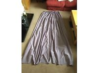 Pair of large linewd curtains