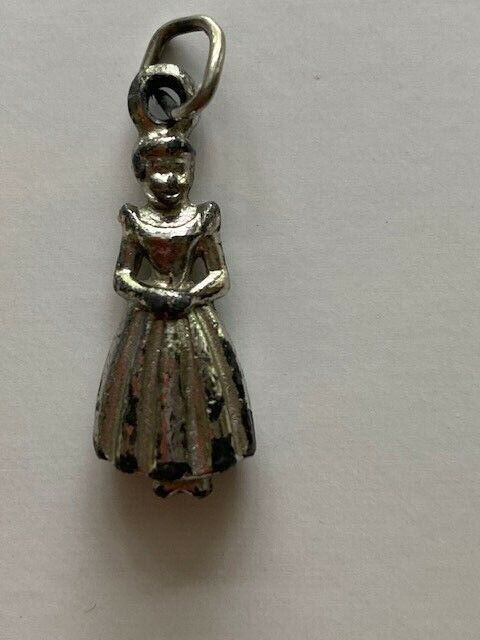 Sterling Silver Cinderella Charm, Very Old. Rare. Very Nice!