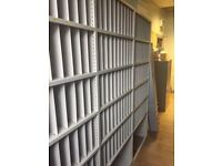 Letter rack steel shelving, 78 cm bays, 35cm deep, 2.0 metres high, Very good condition