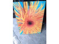 **CHEERY LARGE FRAMED SUNFLOWER POSTER FROM IKEA**