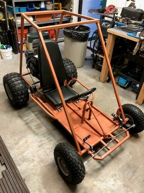 New Custom Built Go-Kart For Sale: Burnt Orange, 6 1/2 HP, One Seater