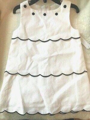 EDGEHILL COLLECTION Size 2T, White & Navy Sleeveless Summer Dress, NWT $52