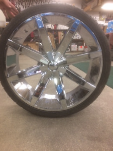 """Four 26"""" KMC Slides Rims and Tires"""