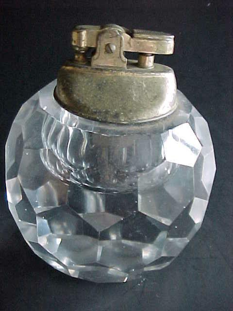 CRYSTAL  CIGAR LIGHTER  vintage PIPE / TOBACCO