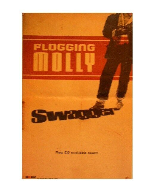 Flogging Molly Poster Swagger Debut Album