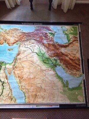 Middle East Wall Map (Hanging wall map of the Orient (Middle East) by Atlantik-Verlag Paul Lift)