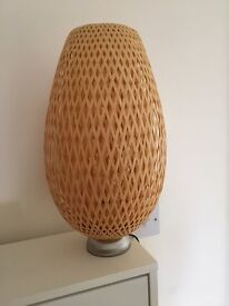 Rattan / bamboo table lamp - brand new