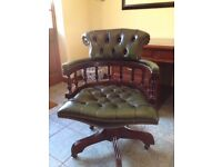 traditional leather captains chair