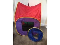 Outdoor play equipment, pop-up house, packs up small, tunnel, no lower offers please