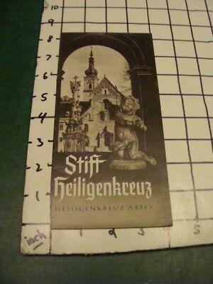 vintage brochure - 1950's STIFT HEILIGENKREUZ - heiligenkreuz abbey
