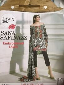 Brand new Embroidered Lawn Suit by Sana Safinazz