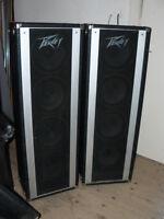 """Pair of Peavey vintage 4 x 10""""  speaker columns"""